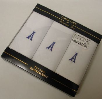 Mens Initial Handkerchiefs MR35116